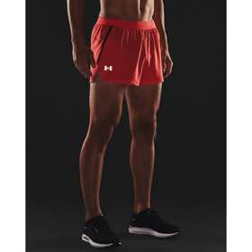 Under Armour Launch SW Split Shorts Men venom red-black